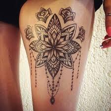 image result for mandala thigh tattoos for females u2026 pinteres u2026