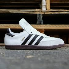 white samba adidas men samba classic white black running white