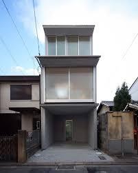 alphaville slots kyoto town house into a narrow residential plot