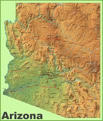 Arizona State Map With Cities by Arizona Physical Map