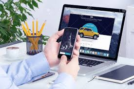 uber application on the apple iphone display and desktop version
