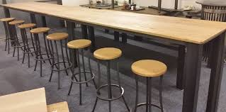 High Bar Table And Stools Vintage Industrial Furniture Restored Metal And Wooden Tables