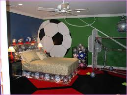 amusing soccer bedroom decor interior home design by stair