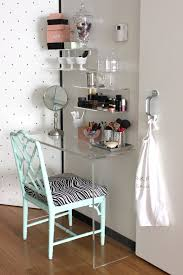 Simple Vanity Table Fabulous Acrylic Vanity Table With Simple Waterfall Clear Acrylic
