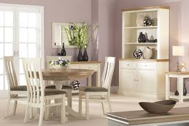 Painted Dining Table by Simple Mirror On Pastel Wall Paint Beside Tile Door Window Facing