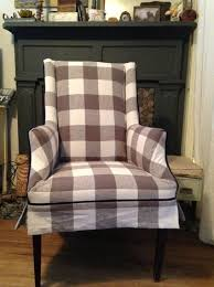 Wing Chair Slipcover Pattern Modern Rustic Wing Chair Slipcovers Christine Lindsay