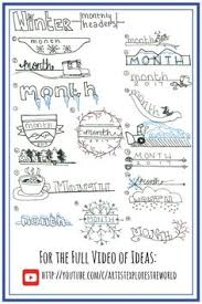 Journal Design Ideas Winter Themed Bullet Journal Designs Bullet Journal Ideas