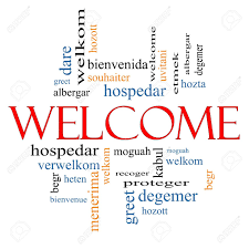 welcome word cloud concept with welcome greetings in different