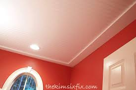 How To Install Beadboard On Ceiling - how to install a beadboard paneled ceiling the kim six fix
