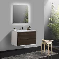 aquila white gloss 600mm wall hung bathroom cabinet slimline