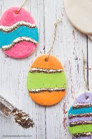 glitter easter egg ornaments salt dough easter eggs the best ideas for kids