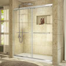 glass shower sliding doors dreamline enigma x 56 in to 60 in x 76 in frameless sliding