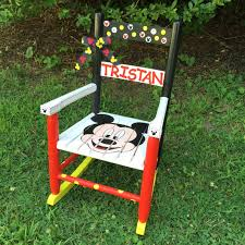 Mickey Mouse Lawn Chair by Mickey Mouse Themed Rocking Chair Hand Painted Kids Rocker