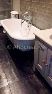 stylish retro chic bathroom stunning fired earth silver glass