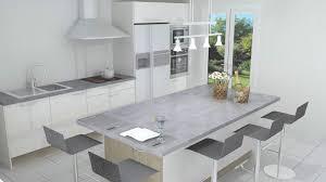 photo de cuisine avec ilot cuisine avec ilot central néo blanc brillant cuisiniste bordeaux