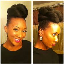 twisted bun hairstyle on african american professional natural hairstyles for black women
