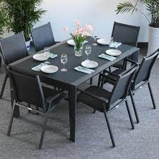 extension dining table and chairs dining table set janine grey 6 person aluminium glass extension