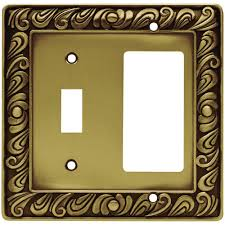 brass switch plates wall plates the home depot