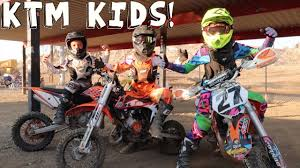 motocross biking ktm kids on dirtbikes youtube