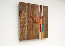 reclaimed wood wall large reclaimed wood wall clock modern large wood clock with accent