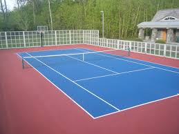 Backyard Basketball Online by Tennis Court Resurfacing Repair Maine Backyard Basketball Courts