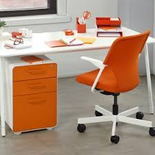 Computer Desk With Filing Cabinet by File Cabinets 2 U0026 3 Drawer Metal Modern Office Furniture Poppin