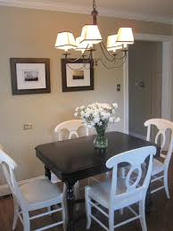 black table white chairs live creating yourself kitchen table redo dark table light chairs