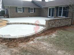 backyard stamped concrete patio ideas backyard design and