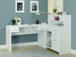 white corner office desks for home amazon com monarch hollow core l shaped home office desk white