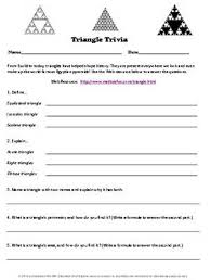 education world triangle trivia worksheet