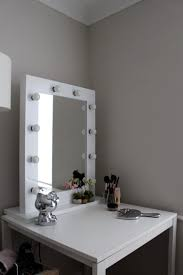 Bathroom Mirror Led Light by Bathroom White Wooden Vanity Table With Mirror And Light Bulps