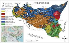 Map Of Sicily Italy by Vertical Axis Rotations In The Sicilian Fold And Thrust Belt New