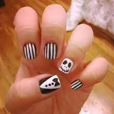 jack skellington nail art simplychitah nail designs pinterest