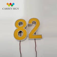 house number light box advertising light box stainless steel luminous house numbers outdoor