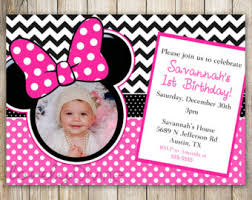 free minnie mouse 1st birthday invitations templates image
