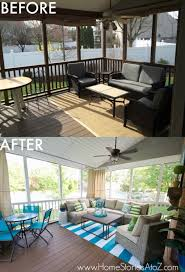 Patio Paint Designs Lowe U0027s Screen Porch And Deck Makeover Reveal
