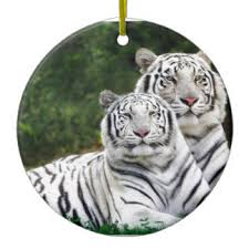 white tiger ornaments keepsake ornaments zazzle