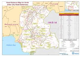 map in road pakistan road distance map for sindh inter city road distances