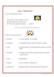 14 free esl last christmas worksheets
