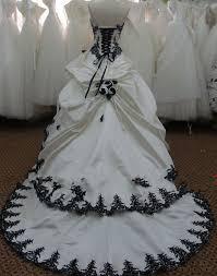 robe de mari e noir et blanc robe de mariee bustier noir et blanc mariage