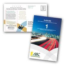 postcard printing print and mail insurance postcards at