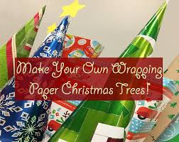 wrapping paper for christmas make your own wrapping paper christmas trees