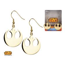 wars earrings wars gold ip rebel alliance symbol hook dangle earrings