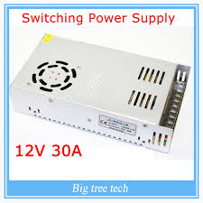 led strip light transformer 12v 30a 360w switching power supply adapter led strip light