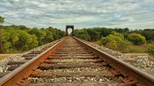 rusty train rusty gray metal train rails close up photo hd wallpaper
