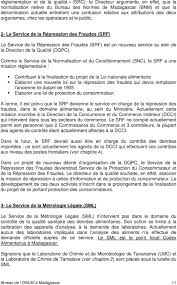 bureau protection du consommateur organisation institutionnelle du contrôle de la qualité sanitaire