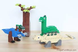 halloween legos five lego dinosaurs to build