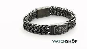 mens black link bracelet images Police jewellery men 39 s black ion plated steel p link bracelet jpg