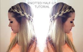 tutorial knotted half up tutorial youtube