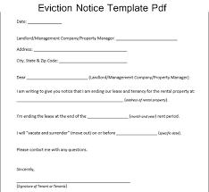 sle eviction notice maine sle eviction notice template pdf excelabout com pinterest